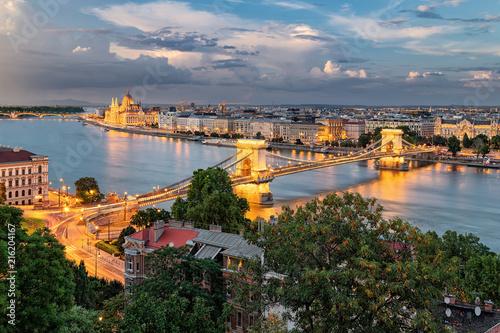 In de dag Boedapest Budapest evening panorama