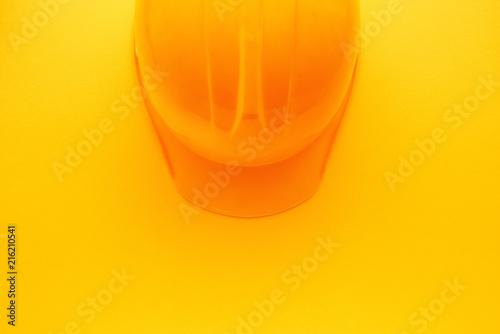 Foto Murales Yellow construction hardhat helmet