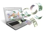 make money online with laptop concept
