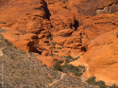 Canvas Oranje eclat Nevada Desert