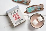Abreißkalender mit Datum von Halloween 2018