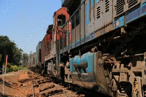 Foto Spatwand Spoorlijn Fotografia