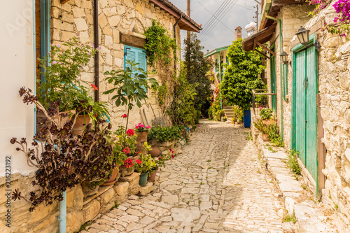 A view in the traditional village of Lania in cyprus.