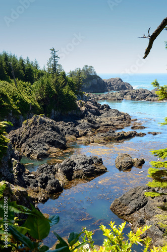 Foto Spatwand Canada Vancouver Island Canada Beautiful Rocks and Water
