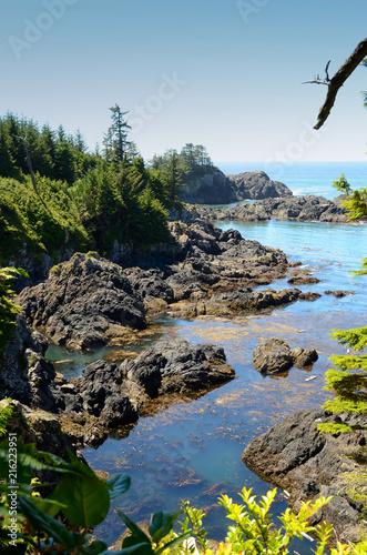 In de dag Canada Vancouver Island Canada Beautiful Rocks and Water