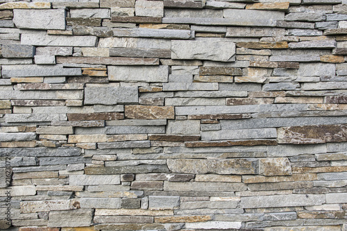 Decorative stones on the wall. - 216233726