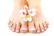 Leinwanddruck Bild - Perfect hands on female feet