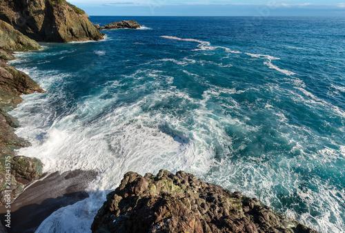 Fotobehang Liguria Mediterranean Sea and Coast in Framura - Liguria Italy