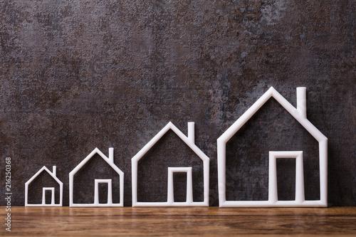 Leinwandbild Motiv Row Of Outlined Houses