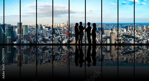 Leinwanddruck Bild ビジネスと都市