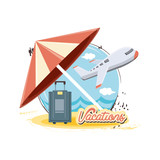 travel vacations set icons vector illustration design - 216259900