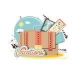 travel vacations set icons vector illustration design - 216259938