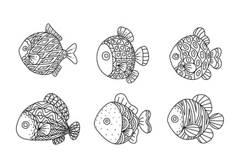 Graphic fish, vector © yai
