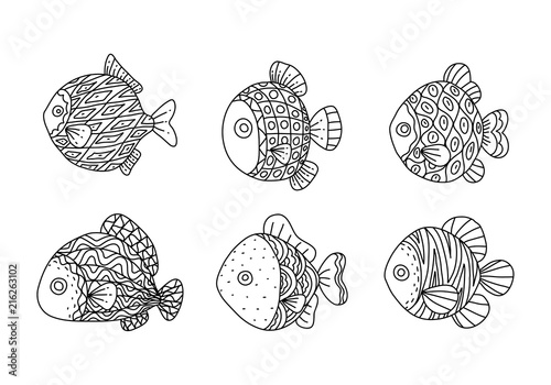 Graphic fish, vector