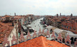 venice roofs with the Rialto bridge and the ships on the Grand C