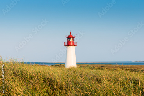 Canvas Vuurtoren Lightouse on dune on Sylt island. Germany.