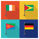 World country flags design vector