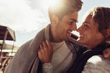 Couple on a romantic winter holiday - 216277143