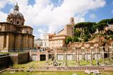 Ancient roman historic ruins (Roman Forum)