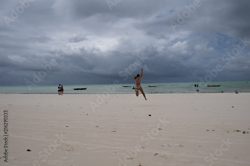 In de dag Zanzibar Zanizibar beach
