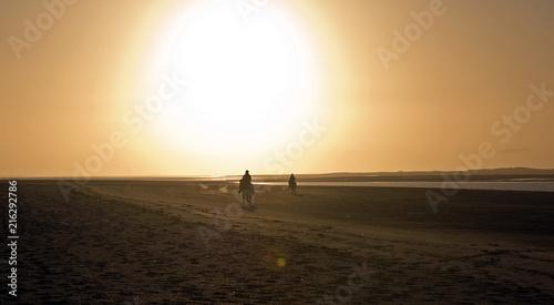 Aluminium Noordzee Abendstimmung auf der Insel