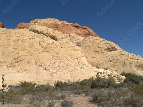 Fotobehang Beige Rock Climbing