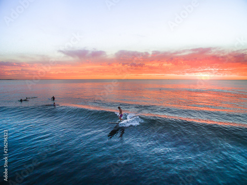 Surfing - Longboard Sunset