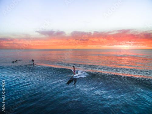 Foto Murales Surfing - Longboard Sunset