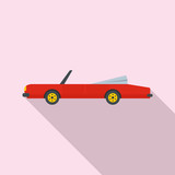 Rap american car icon. Flat illustration of rap american car vector icon for web design