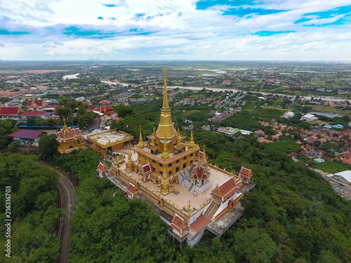 Plexiglas Thailand High angle photo Watkeereewong, Nakhon Sawan, Thailand.