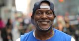 Mature man in city smile face portrait - 216327911