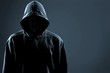 Quadro Thief in black clothes on grey background