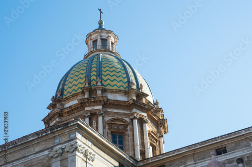 Plexiglas Palermo Cupola Barocca della chiesa di San Giuseppe dei Teatini / Palermo / Sicilia / Italia