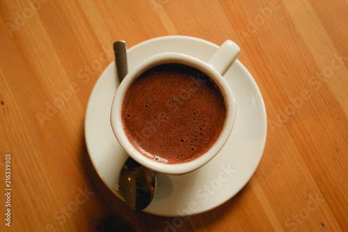 Canvas Chocolade hot chocolate in wooden table