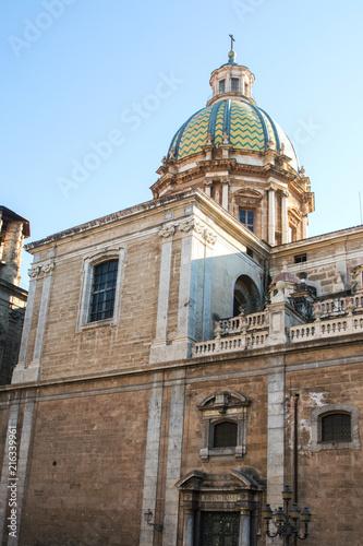 In de dag Palermo Chiesa barocca di San Giuseppe dei Teatini / Palermo / Sicilia / Italia