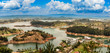 Aerial view of Guatape, Penol, dam lake in Colombia. - 216348548