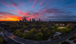 Midtown Toronto Panorama during Sunset