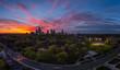 Midtown Toronto Panorama during Sunset