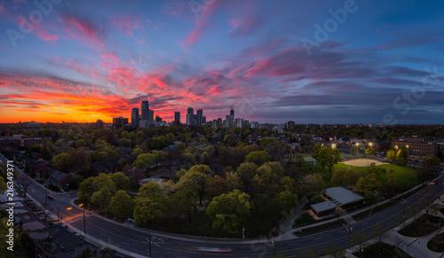 Canvas Toronto Midtown Toronto Panorama during Sunset