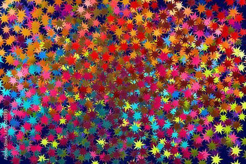 fond étoiles multicolores