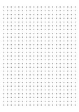 Dot Grid Paper graph paper 1 cm on A4 on white background vector illustration
