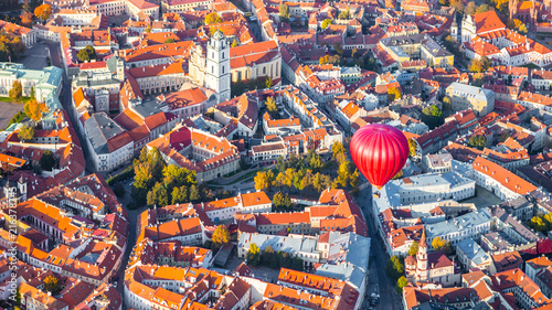 Aerial view of Vilnius, Lithuania - 216378745