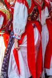 Detail of Slovak folk costume for women - 216384198