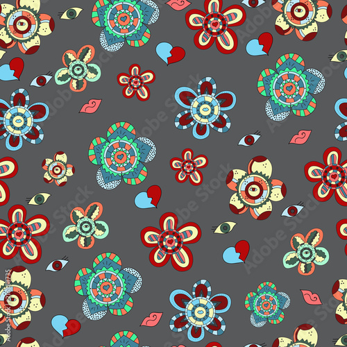 Abstract floral pattern - 216388735