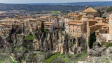 Skyline of the historic city of Cuenca, Spain