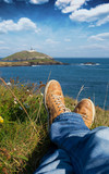 Relaxing On a Cliff Overlooking Ballycotton Island, Cork, Ireland