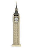 Big Ben Tower the architectural symbol of London, England and Great Britain Isolated on white background.