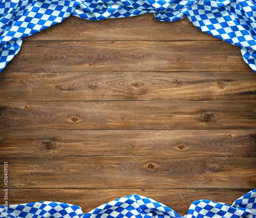 Leinwanddruck Bild Rustic background for Oktoberfest