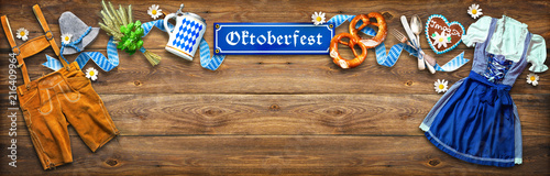 Rustic background for Oktoberfest - 216409964