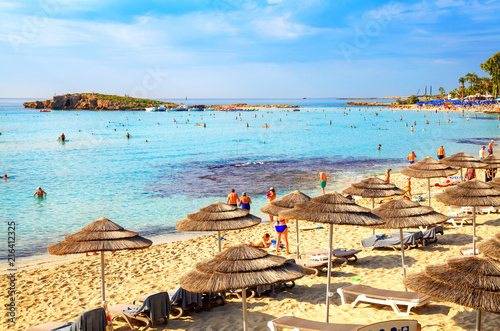 In de dag Cyprus Nissi beach in Aiya Napa, Cyprus. Ayia Napa coastline.